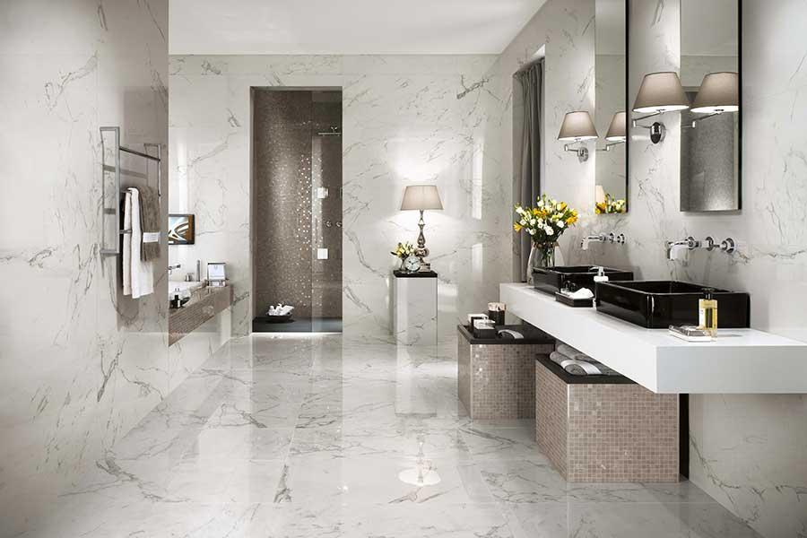 L 39 eleganza del marmo marvel di atlas concorde sabia for Bagno effetto marmo