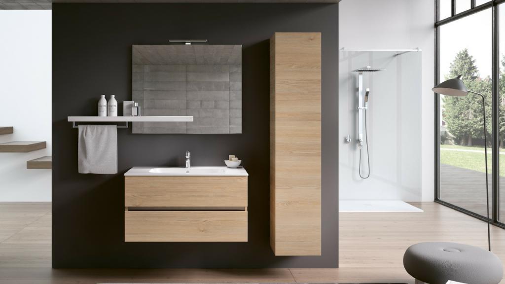 Il legno protagonista anche per l 39 arredo bagno sabia - Ambientazioni bagni design ...