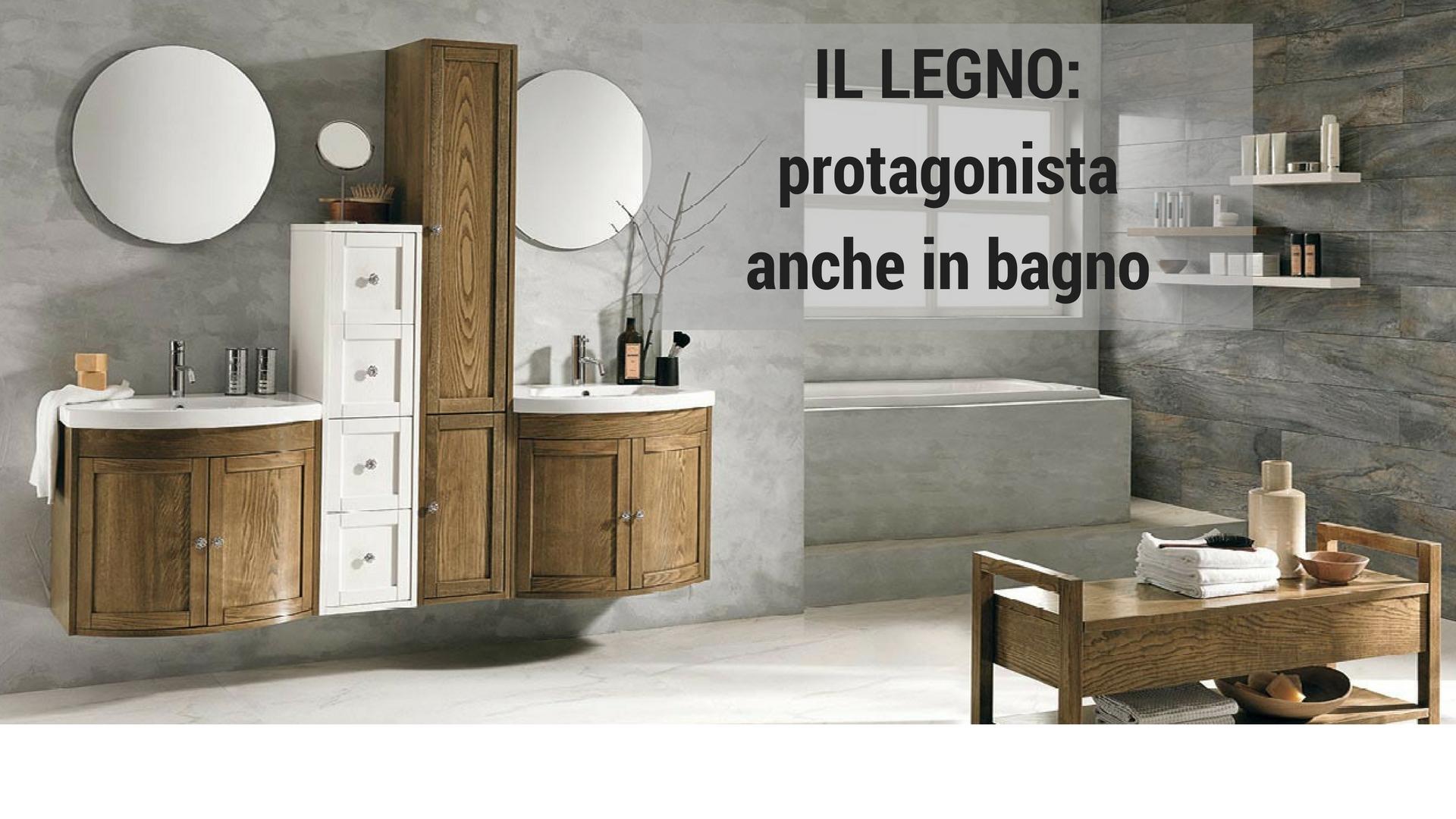 Il legno protagonista anche per l 39 arredo bagno sabia design center - Accessori per bagno in legno ...