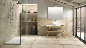 Bagno rustico autenticamente moderno sabia design center