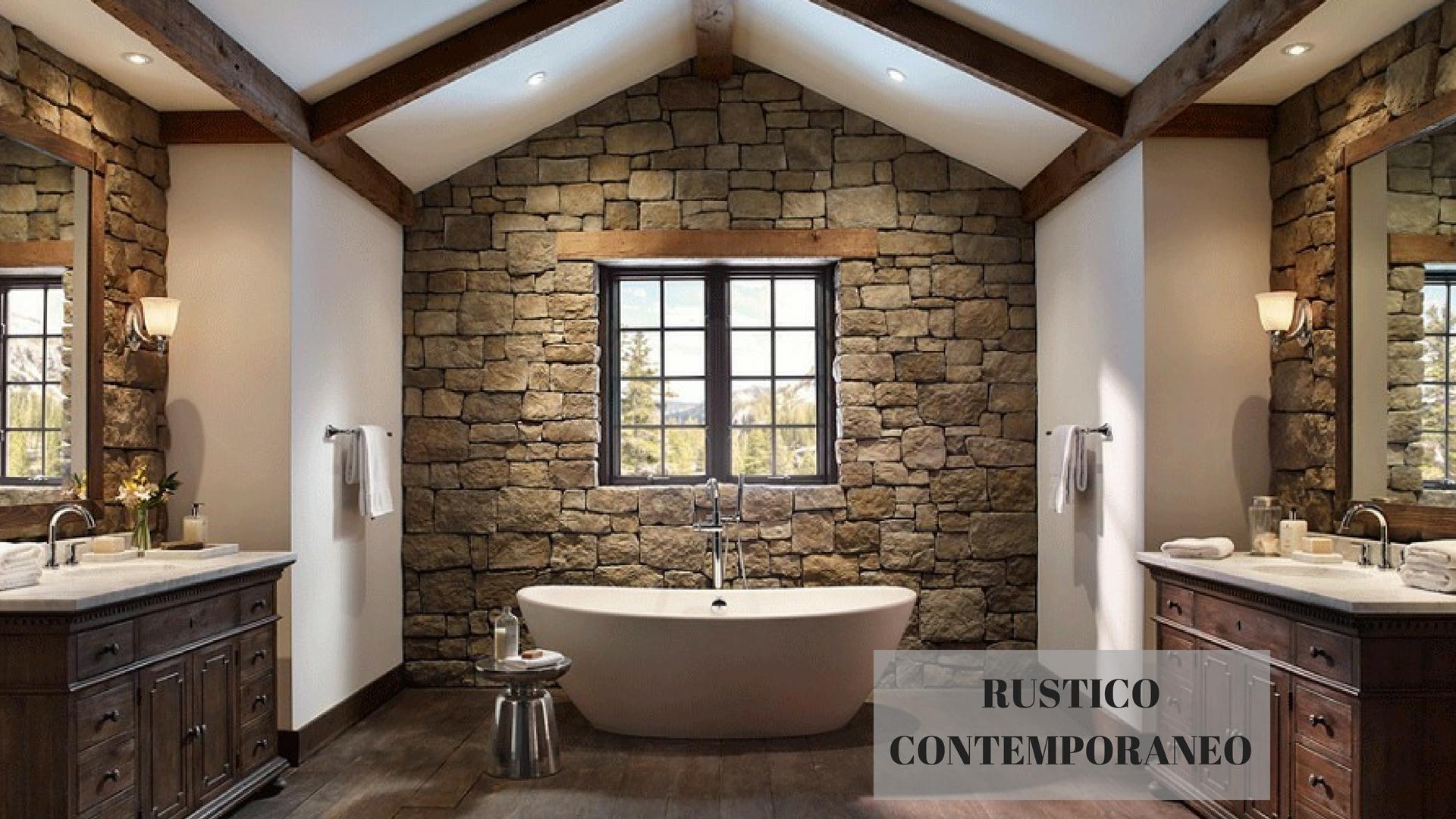 Bagno rustico autenticamente moderno sabia design center - Bagno rustico moderno ...