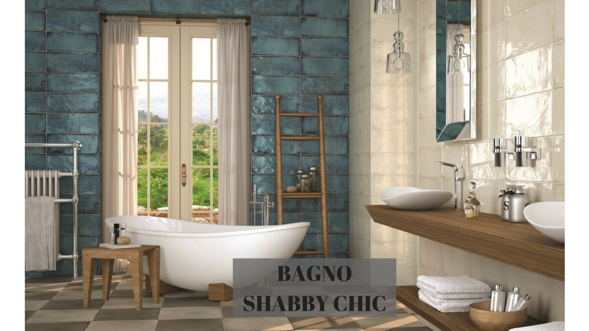 Bagno shabby chic elegantemente vintage sabia design center
