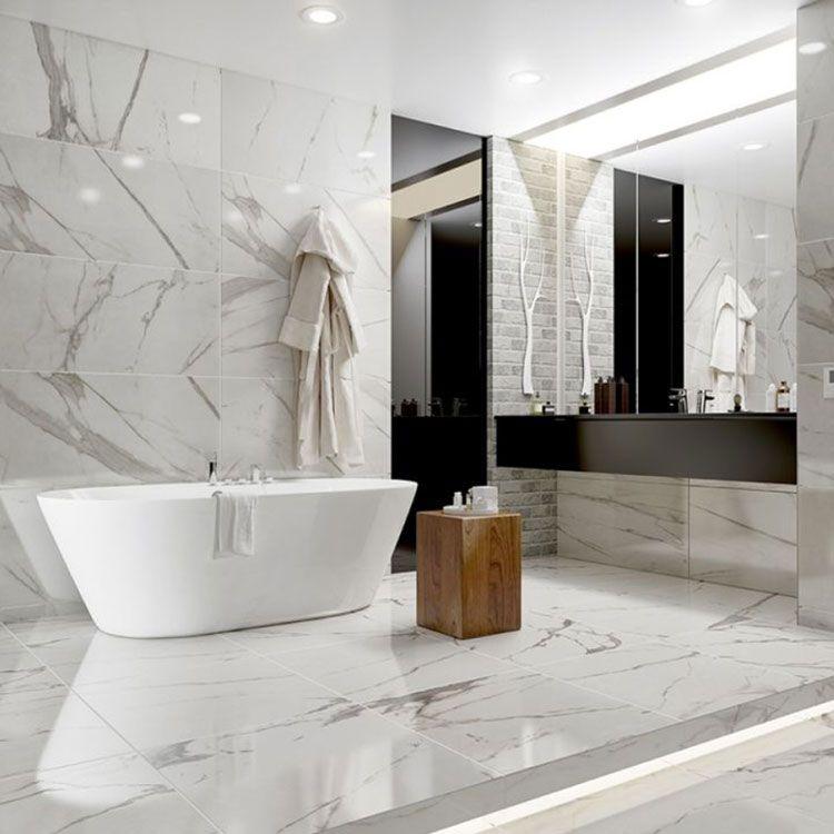 Come abbinare marmo e legno. Il marmo chiaro.