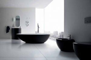 arredo bagno bianco e nero
