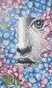 mosaico Bisazza Fornasetti Ortensia